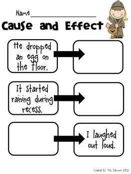 Allow students to use their own imaginations to create fun cause-and-effect sentences! www.teachthis.com.au