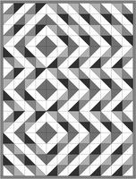 HST quilt layouts - lots of patterns using only half square triangles. ....I really must try this sometime ...maybe as a lap quilt....