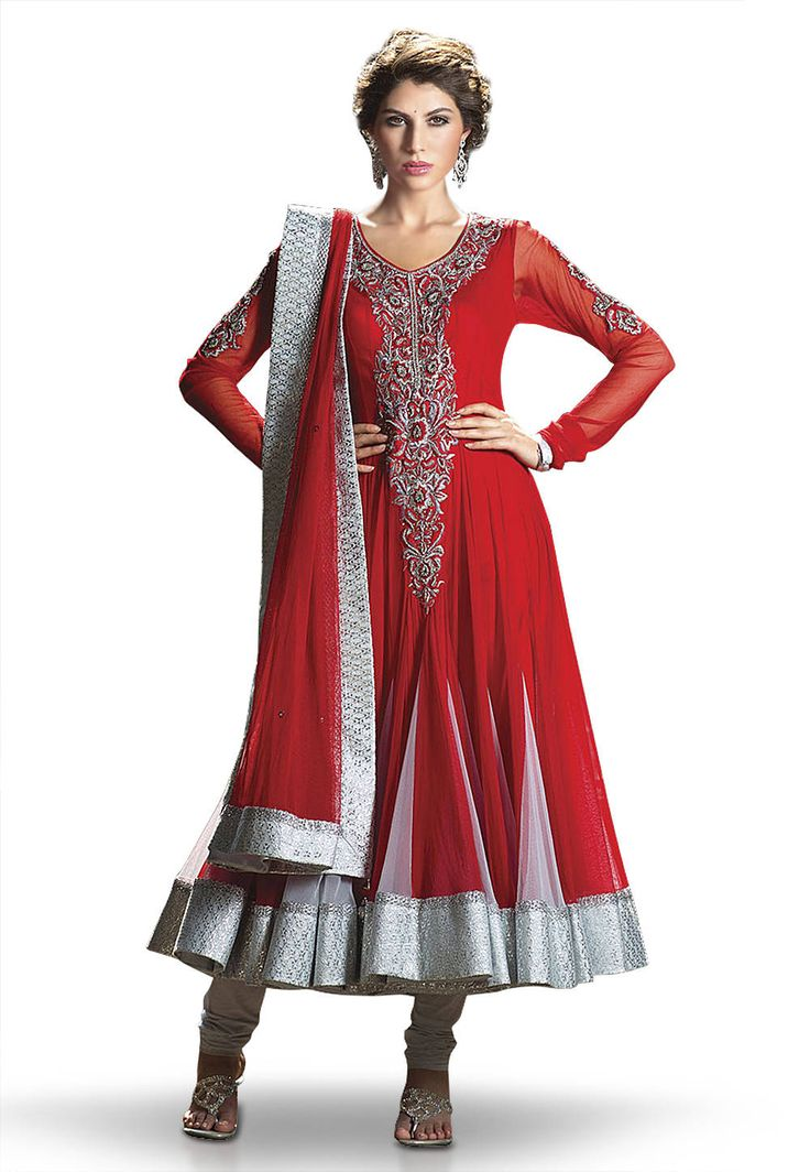 Anarkali #Suit in #Red