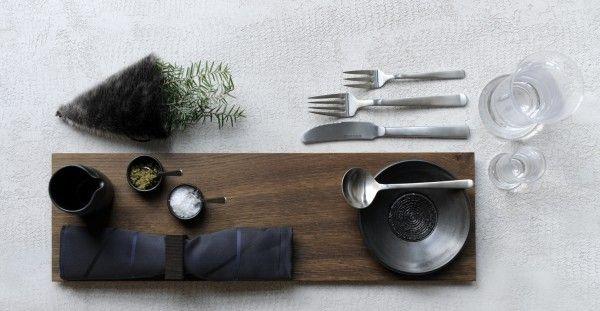 Kay Bojesen Grand Prix cutlery in a Christmas table setting. Kay Bojesen Grand Prix cutlery / flatware. Danish Design.