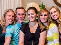 Bonnie Hoellein (center) With siblings L-R Ruby, Beau, Bonnie, Julie & Ellie