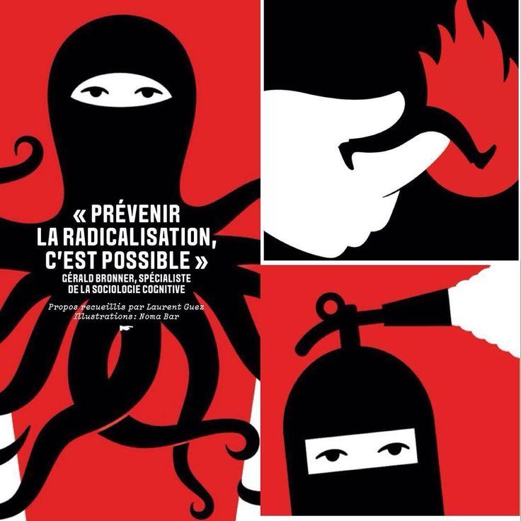 """""""Prévenir la radicalisation, c'est possible"""" : le message d'espoir de Gérald Bronner recueilli par ✒️ @lguez et illustré par ✏️@noma_bar  #geraldbronner #nomabar dans #lesechosweekend @echosweekend @alicelagarde"""