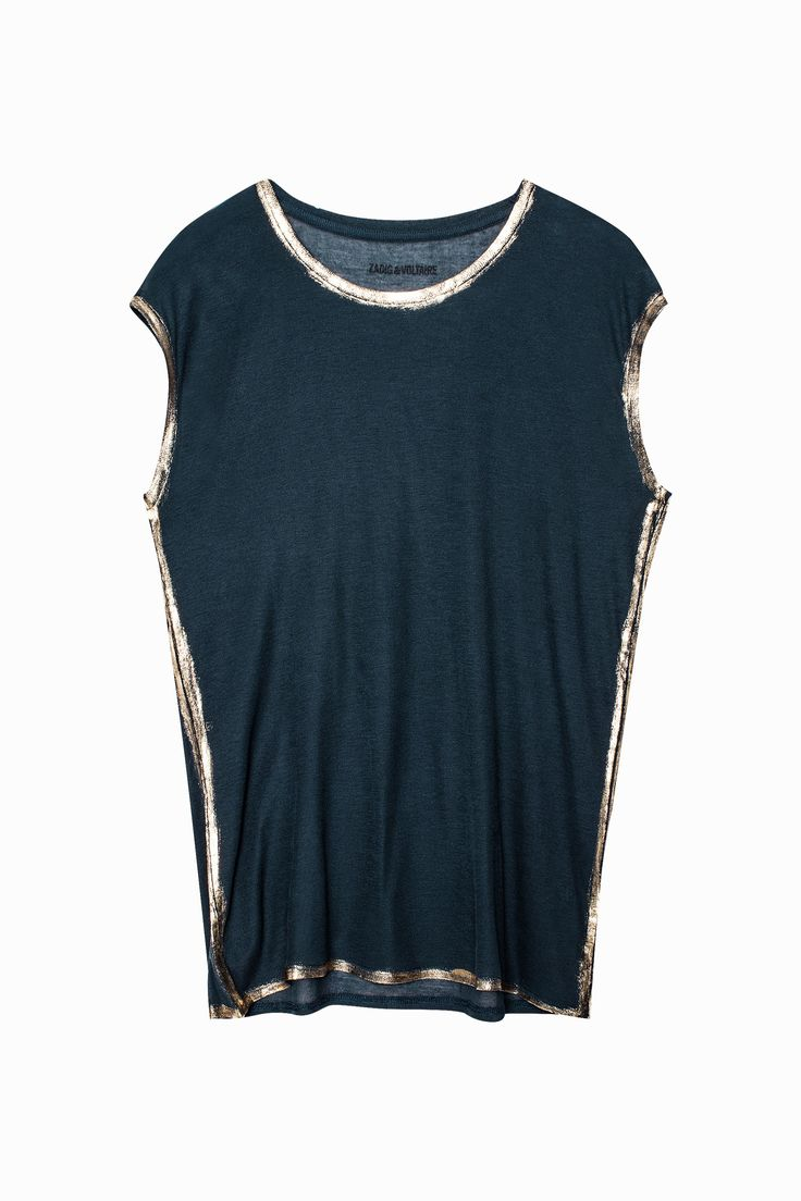 Dallas Foil Tank Top, navy, Zadig & Voltaire
