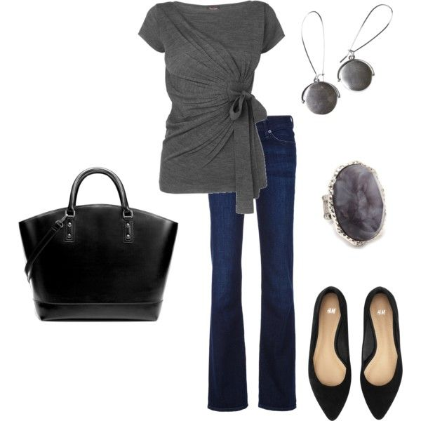 love the gray top!: Style Great Style, Casual Work Outfits, Black Bags, Gray Tops, Dark Gray, Cute Sweaters, Cute Outfits, Amirichard, Stylegreat Style