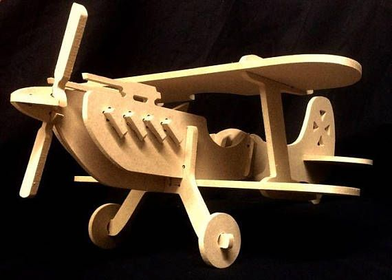 A custom designed and built Biplane model that is perfect for any aviation enthusiast.  Made of MDF and completely free of all stains, paints, or other finishes you have the perfect opportunity to give your model a custom paint job or it can be left and admired as is. arkcnc