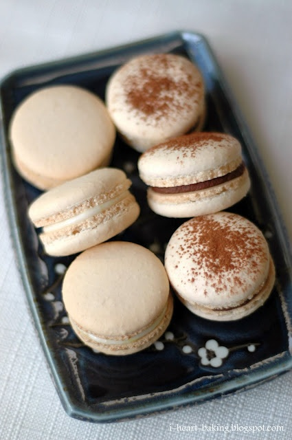 lemon cream cheese macarons, and whipped chocolate ganache macarons