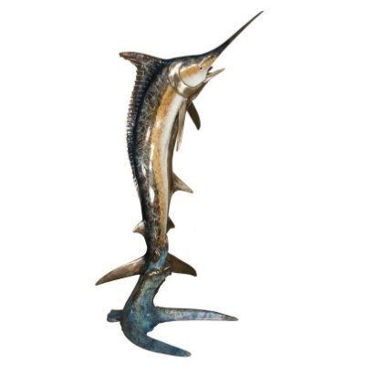 Bronze Marlin Statue