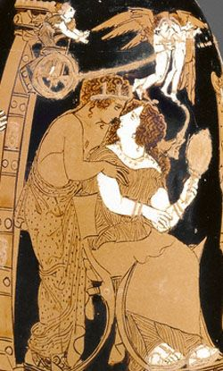 Image result for abduction of helen greek art