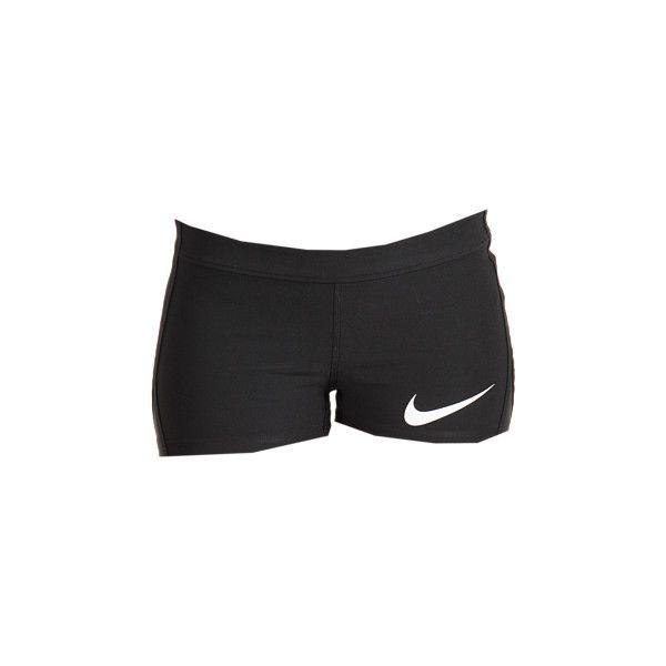 Nike Knit Shorty Short, женские шорты. Огромный выбор с доставкой по... ❤ liked on Polyvore featuring activewear, activewear shorts, workout, gym, nike, nike sportswear and nike activewear