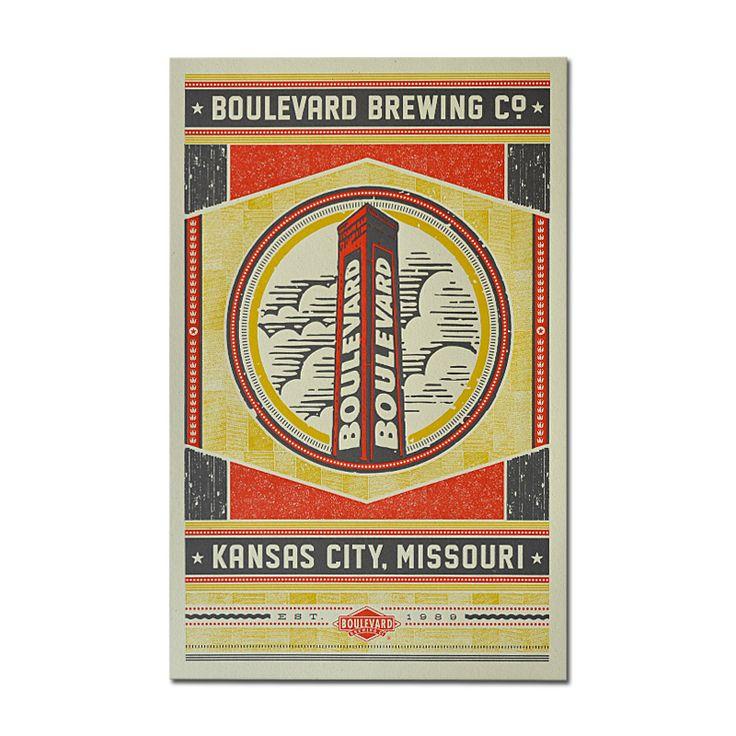 "Boulevard Brewing Company » Hammerpress® ""Smokestack"" Poster"