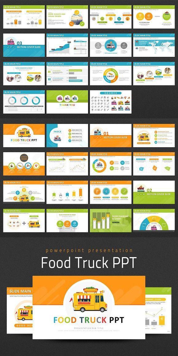 Food Truck Ppt Food Truck Powerpoint Templates Trucks
