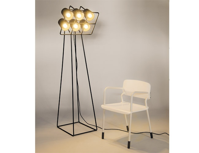 Floor lamp with 6 lampshades metal lamp design home