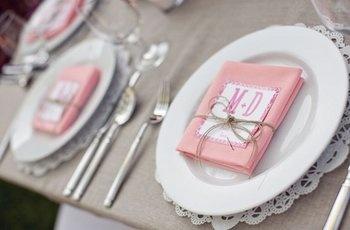 Wedding, Reception, Pink, White, Diy, Doily