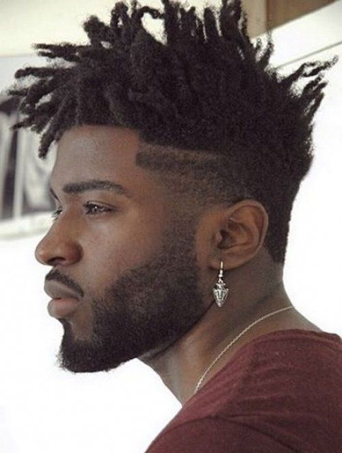 stylish-medium-dreaklocks-spiky-hairstyle-black-men