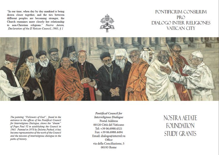 Opera Followers of God di Dolores Puthod 1978 cm. 400x300 - Vaticano Palazzo per il dialogo Interreligioso