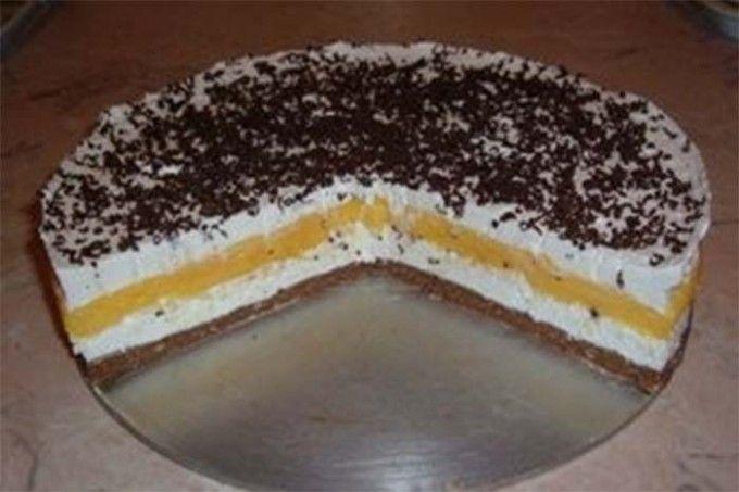 Skvělý nepečený krémový dort | NejRecept.cz