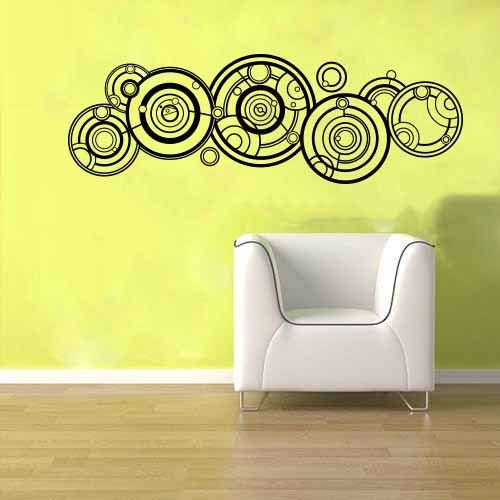 doctor who gallifreyan name wall vinyl sticker decal mural dr who in tardis wall sticker icon wall art