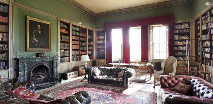 Lived inDreams, Worn Interiors, Rise Hall, Hall Libraries, Chesterfield Sofas, Well Worn, Isle Castles, Interiors Ideas, British Isle