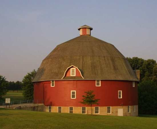 Ryan Round Barn - At at Johnson Sauk Trail Park. South of I-80 on Rt 78 for about 6 miles to the park entrance.    Henry Co IL