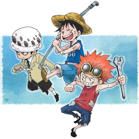 Supernova monster trio 3 rookie Captains Trafalgar D. Water Lawyers, Monkey D. Luffy, Eustass Kid One piece