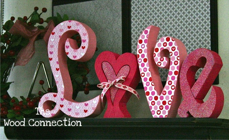 valentine's day wood signs