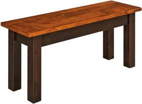 """33% OFF Amish Furniture: 48"""" Asheville Bench: Oak"""