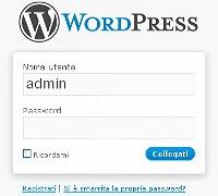 Pannello di controllo di WordPress