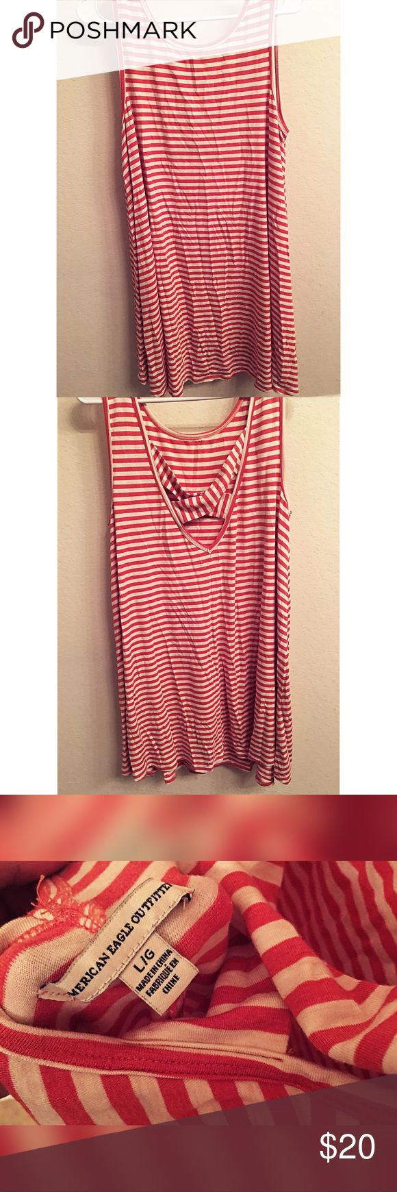 NEW! AE OUTFITTERS Orange Stripped Dress New! Never worn. Lightweight. Comfy fit. American Eagle Outfitters Dresses