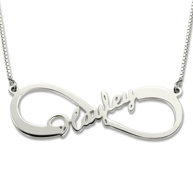 Infinity Name Necklace Single Name Necklace Sterling Silver Infinity Necklace with Any Name wedding Gift Mother's Day Gift