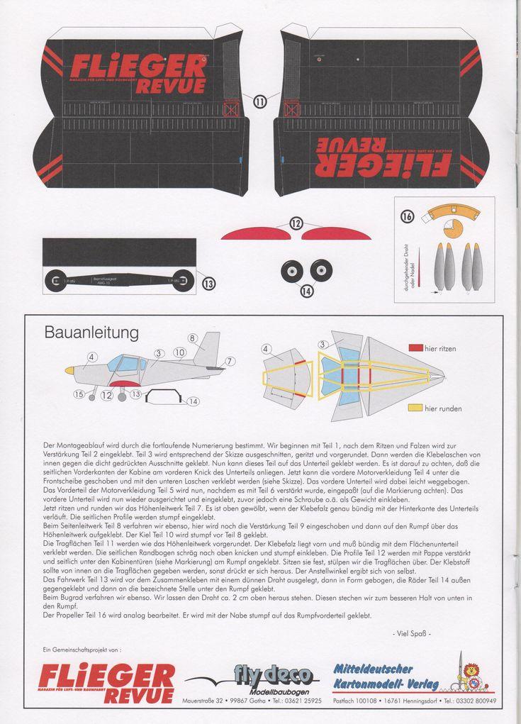 332 best maquete avião de papel images on Pinterest | Paper ...