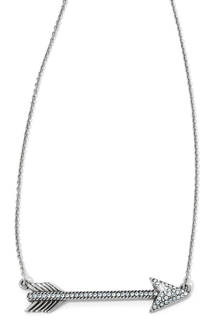 This Arrow Necklace Hits The Mark For Ontrend Style! Swarovski Gives Its  Delicate