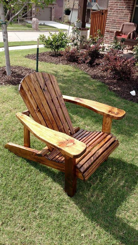 Adirondack chairs, chair, DIY wood palle furniture ideas