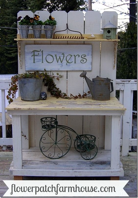 Potting Bench ~ Flower Patch Farmhouse