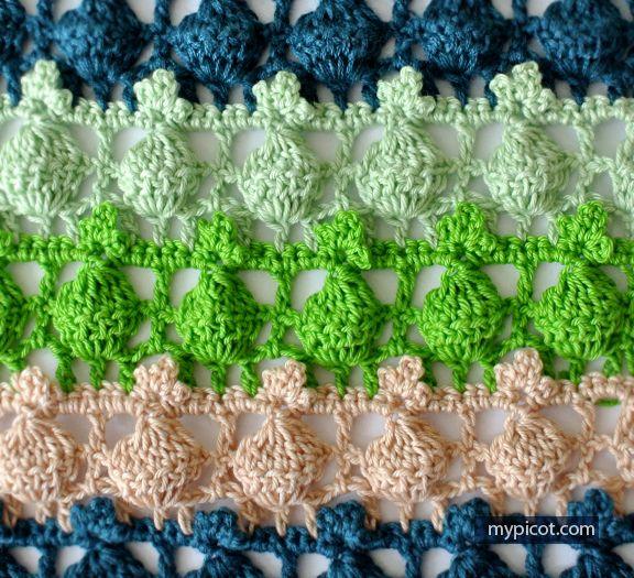 Crochet Openwork Stitch Tutorial - (mypicot)