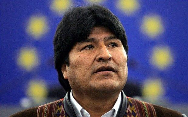 Evo Morales. Bolivian President.