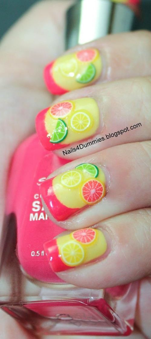 16 Interesting Food Nail Designs to Try: #15. Fresh Fruit Nail Design