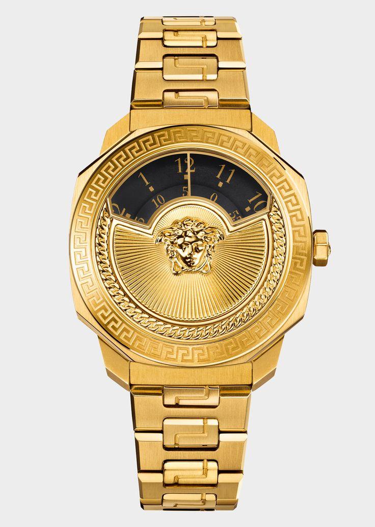 Montre Dylos Icon dorée bicolore - Versace Femme | Boutique en Ligne France. Montre Dylos Icon dorée bicolore de la Collection Versce Femme. Véritable incarnation de l'ADN Versace, cette montre avant-gardiste associe design et tradition.
