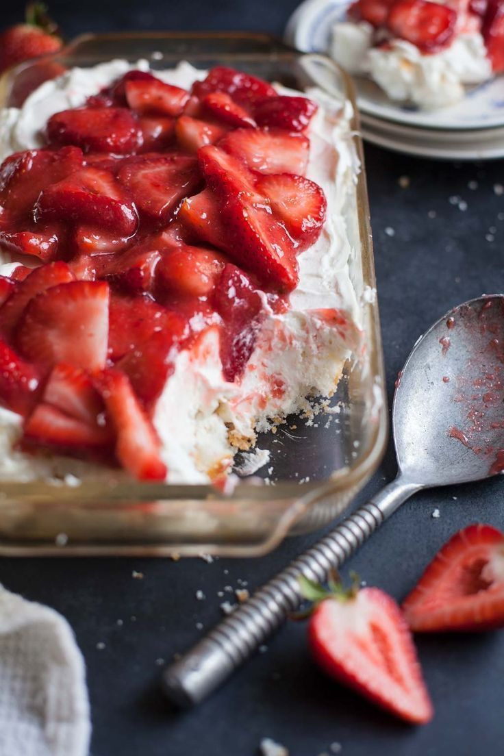 Strawberry Angel Food Cake Lush Recipe Angel Food Cake