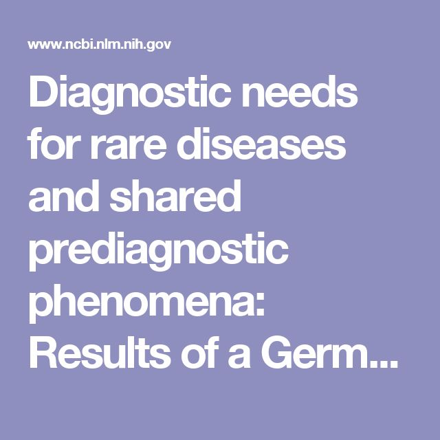Diagnostic needs for rare diseases and shared prediagnostic phenomena: Results of a German-wide expert Delphi survey.  - PubMed - NCBI