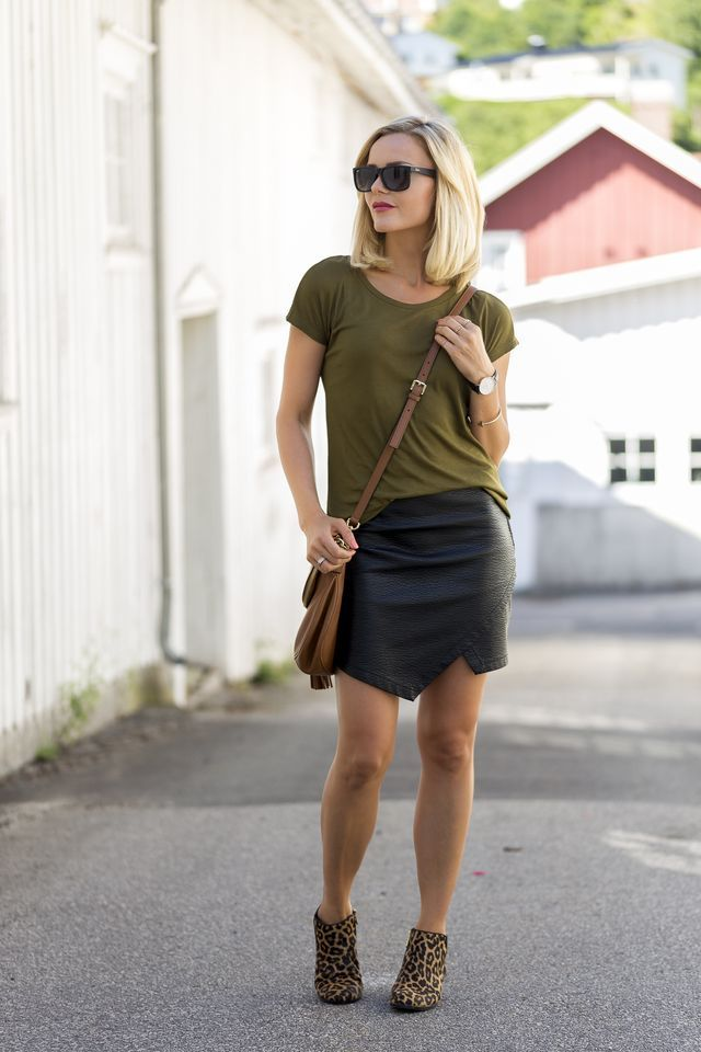 leather, army green and leopard