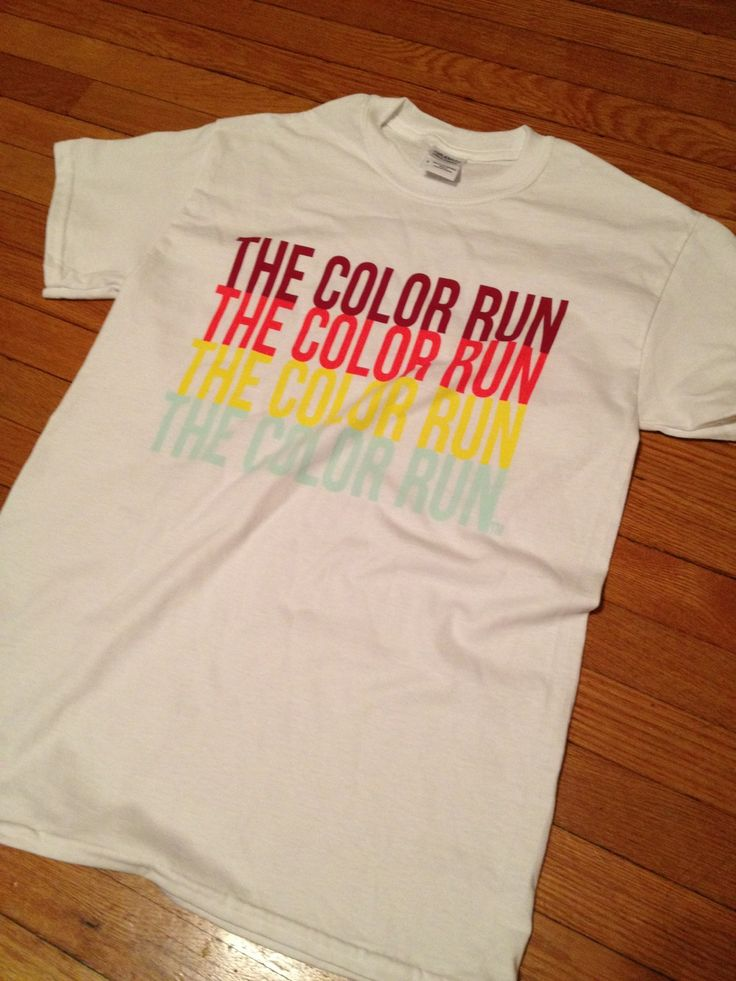 Color Run Shirt Before