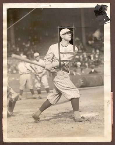 Zach Wheat -- International Newsreel Photo - June 24, 1922 - at the Polo Grounds