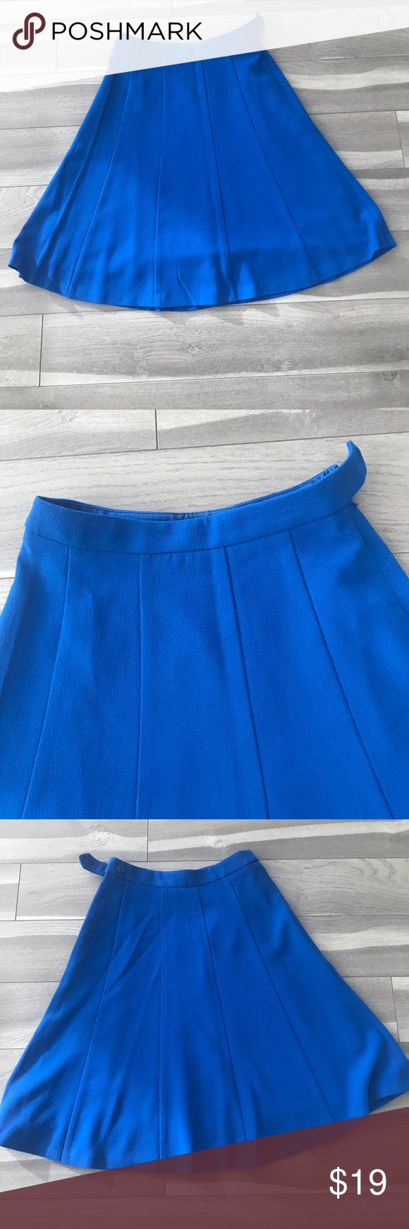 Royal Blue midi skirt Royal Blue midi skirt. Also available in white. Perfect condition. The Limited Skirts Midi