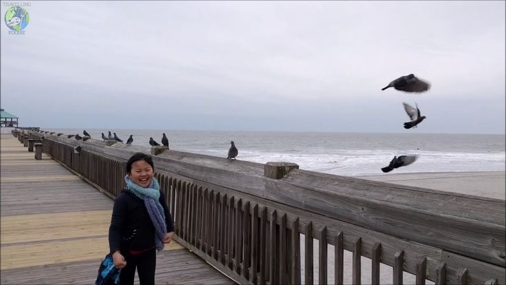 How To Scare Away Pigeons and Slo-Mo High Jump at Folly Beach, South Carolina