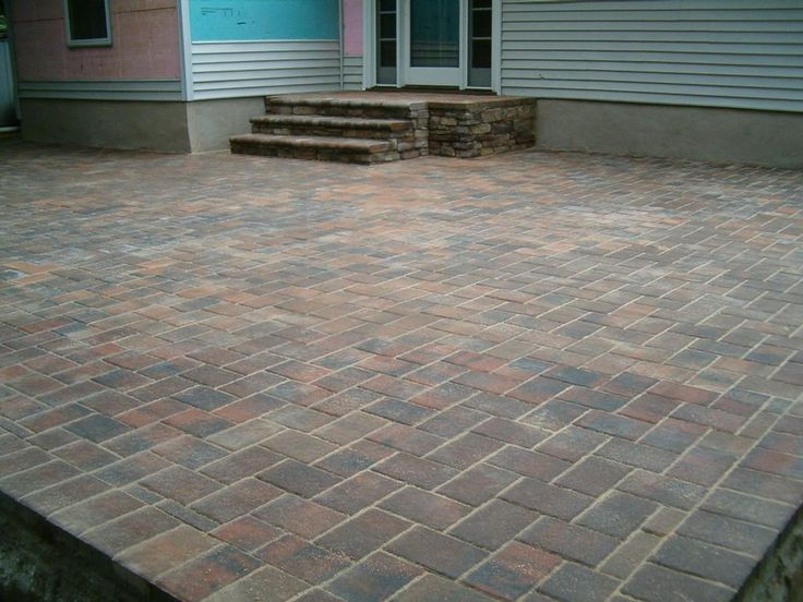 14 best paver patios images on pinterest | backyard ideas, outdoor ... - Patio Step Ideas