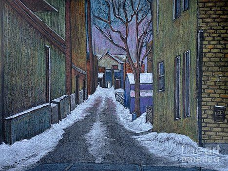 Reb Frost - Verdun Alley in Early Spring