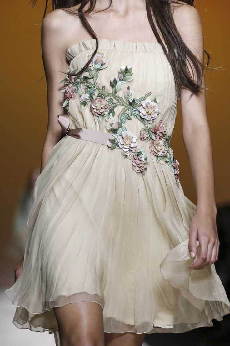 """Flipping through the stream of consciousness notes taken during the Alberta Ferretti show, one phrase stood out among all the hen scratch: """"Pretty Pocahontas."""" That just about nailed th..."""