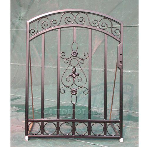 Top 25 ideas about iron garden gates on pinterest metal for Garden gate designs metal
