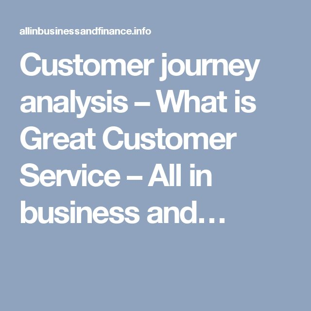 Customer journey analysis – What is Great Customer Service – All in business and…