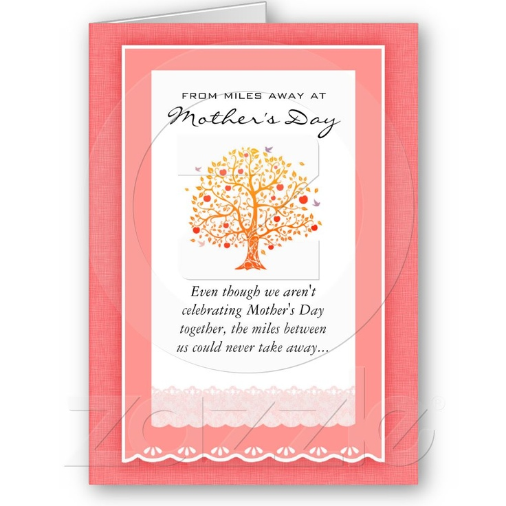 From Miles Away Mother's Day Card by envisager